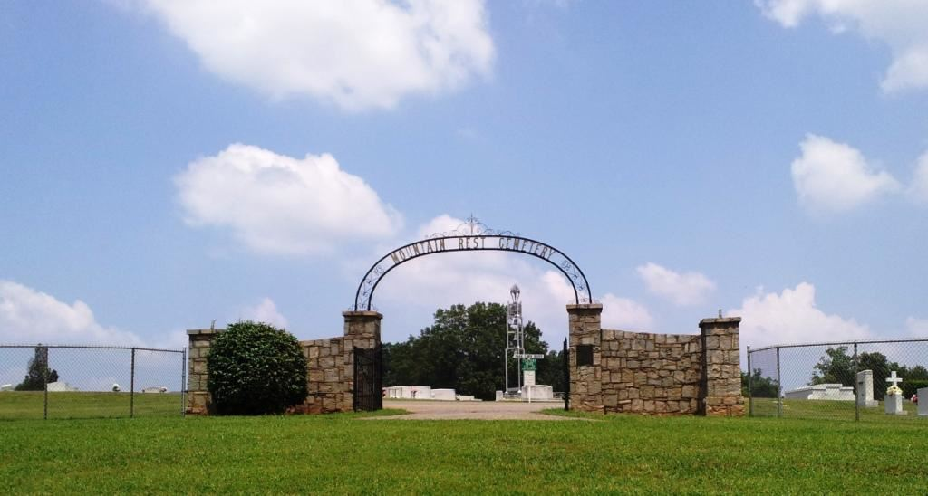 Entrance to the Mountain Rest Cemetery